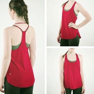Lululemon Coastal Tank Red 8